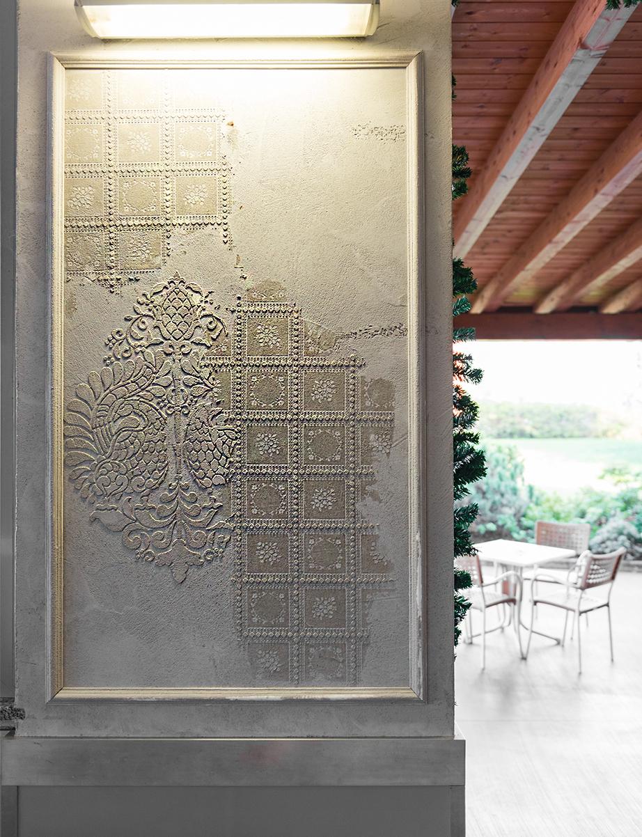 PLASMATORE FRATELLI DISCA Decor wall pareti Infinito Stencil esterno
