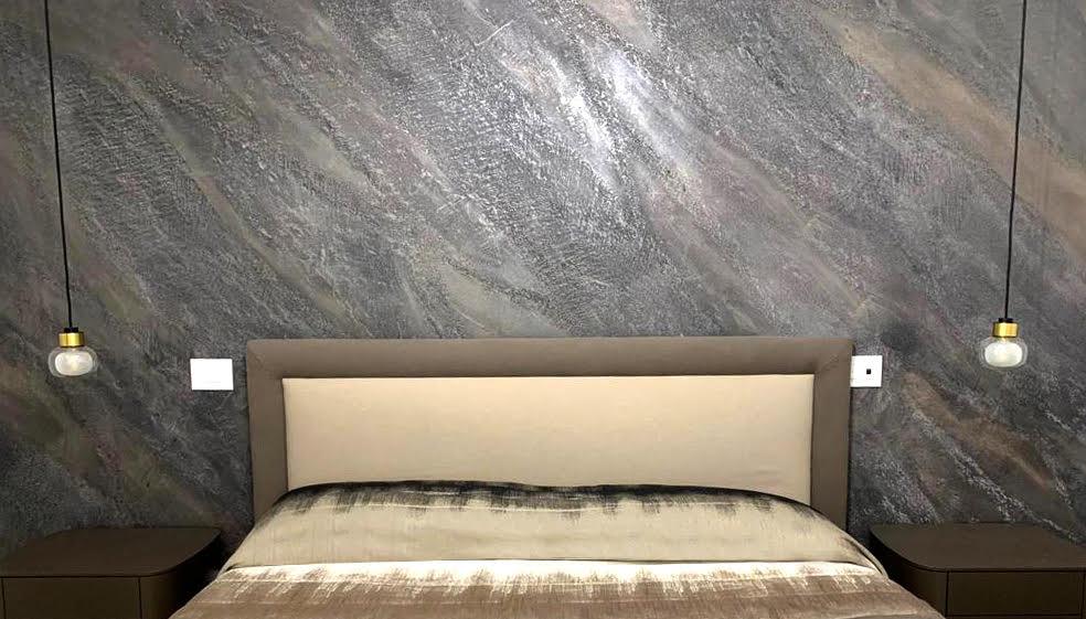 Plasmatore Italiano Francesco Tartaglione parete decor wall realizzata con Infinito + diamond
