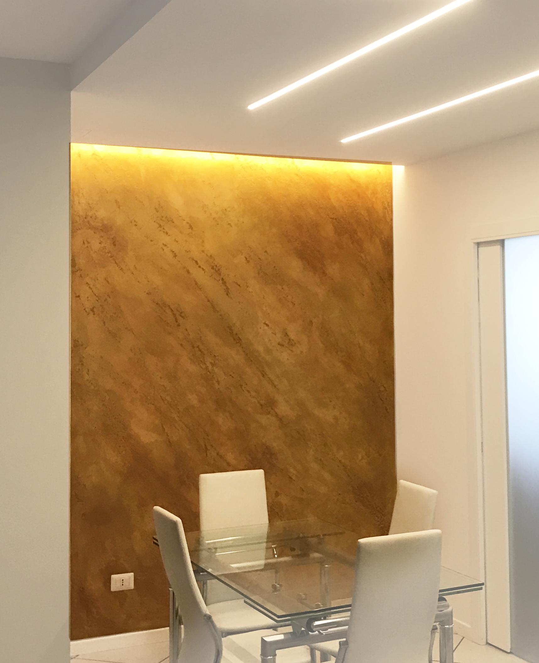 Plasmatore italiano Paolo Grivellaro: Decor wall realizzata con INFINITO