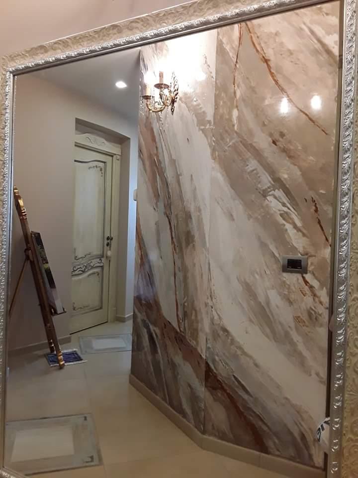 plasmatore italiano Giovanni Moscato: Decor wall realizzata con Plasma 3D effetto marmo