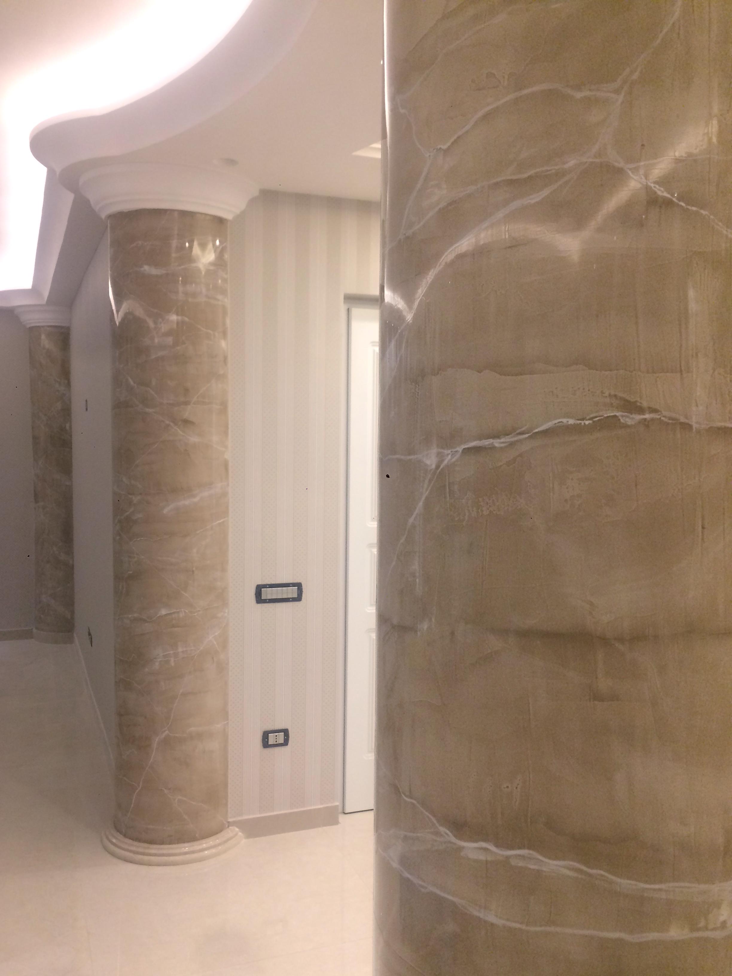 plasmatore italiano Francesco Tartaglione: Decor wall realizzata con Plasma 3D i Marmi